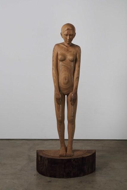 , 'woman with straight line,' 2019, Mizuma Art Gallery