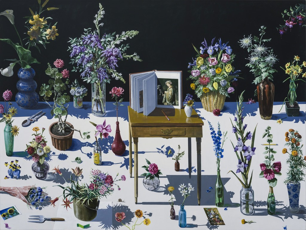 "Paul Wonner / ""To Flora"" / Acrylic on canvas"
