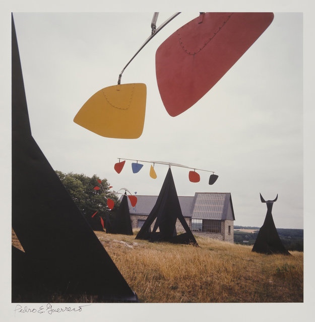 Pedro E. Guerrero, 'Calder Studio Exterior with Mobiles, Saché, France ', 1964, Photography, Color archival pigment print, Edward Cella Art and Architecture