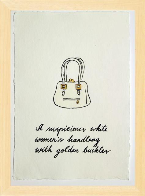 Marko Mäetamm, 'Suspicious Bags White Womens Handbag with Golden buckles   ', 2018, Purdy Hicks Gallery