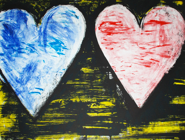Jim Dine, 'Two Hearts at Sunset', 2005, Hamilton-Selway Fine Art