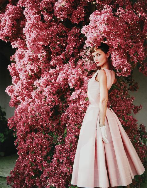 Norman Parkinson, 'Audrey Hepburn with Flowers II, Rome', 1955, Phillips
