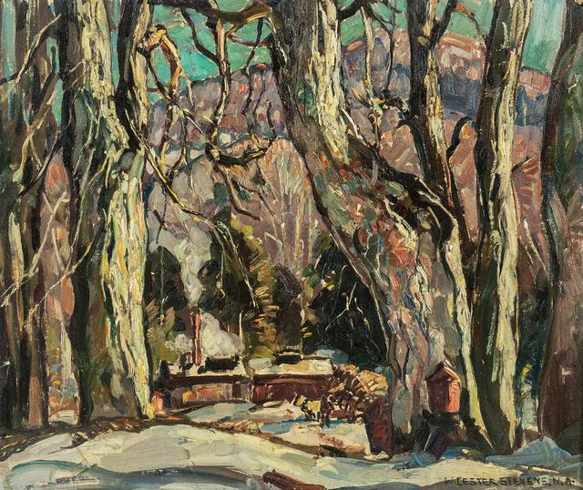 William Lester Stevens, 'Winter in the Woods', Painting, Oil on canvasboard, Skinner
