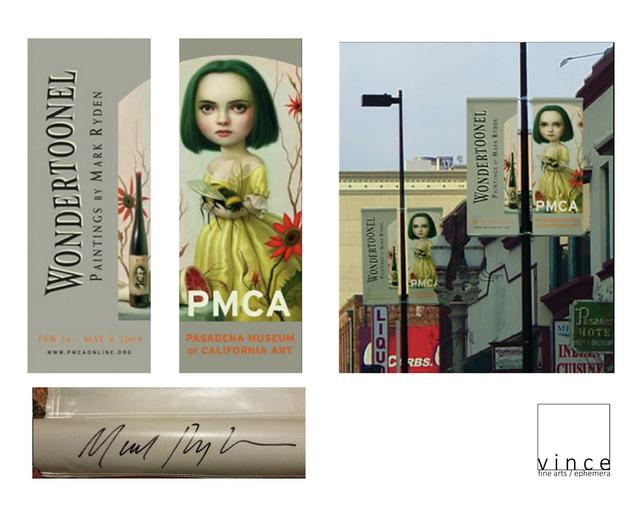"Mark Ryden, '""Wondertoonelexhibit"", 2005, SIGNED/Dated/Numbered Exhibition Two Sided Vinyl Banner Pasadena Museum of California Art, LARGE', 2005, VINCE fine arts/ephemera"