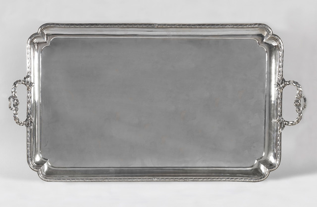 , 'Large rectangular silver serving tray,' Rome-1783, Alberto Di Castro