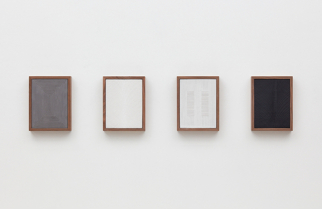 , 'Untitled (Four Part Etched Plaster),' 2015, David Kordansky Gallery