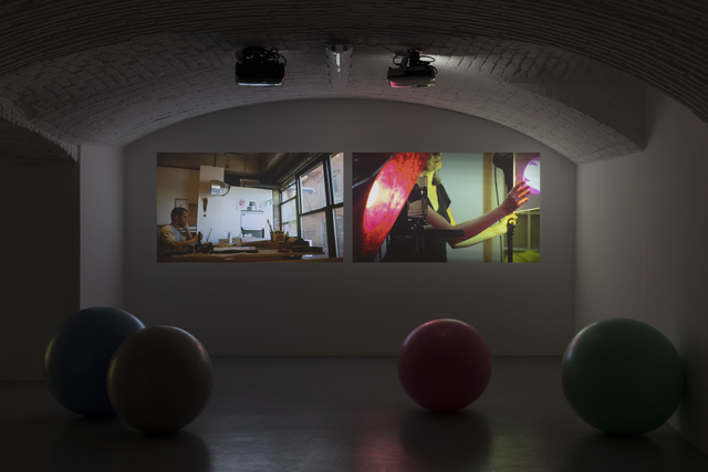 Eileen Quinlan, 'There and Them', 2012, Video/Film/Animation, Video Projection, two channels, Vistamare/Vistamarestudio