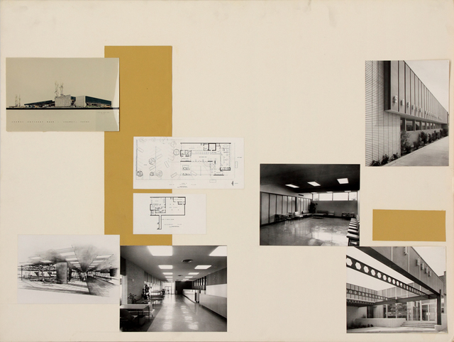 , 'Presentation panel for Snyder National Bank, Snyder, TX, with vintage original photographs and reproductions,' ca. 1950, Edward Cella Art and Architecture