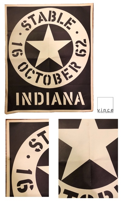 Robert Indiana, '2 PIECE SET- Stable Gallery NY, 1962 Exhibition Poster & 1964 Exhibition Card.', 1962 & 1964, Ephemera or Merchandise, Lithograph on paper, VINCE fine arts/ephemera