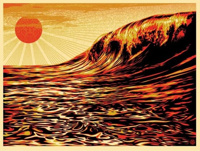 Shepard Fairey (OBEY), 'Dark Wave/Rising Sun', 2011, Dope! Gallery