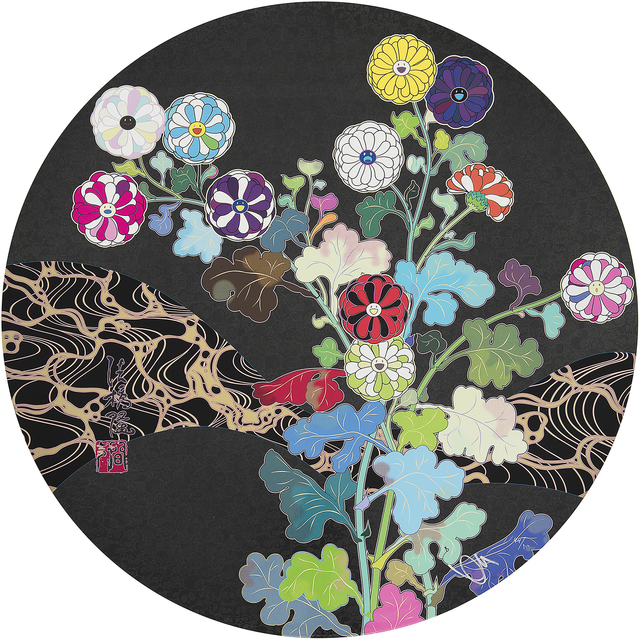 Takashi Murakami, 'Kansei Wildflowers Glowing in the Night ', 2014, Print, Mixed Media Print, Galerie Raphael