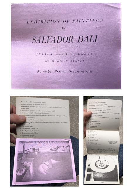 "Salvador Dalí, '""Exhibition of Paintings by Salvador Dali"", 1933,  Exhibition Announcement/ Catalogue, Julien Levy Gallery NYC, RARE', 1933, Ephemera or Merchandise, VINCE fine arts/ephemera"