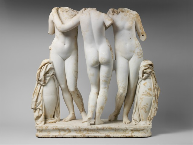 Unknown Roman, 'Marble Statue Group of the Three Graces', 2nd century A.D., The Metropolitan Museum of Art