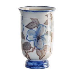 Urn-shaped Jewel Porcelain vase with stylized dogwood blossoms (uncrazed), Cincinnati, OH