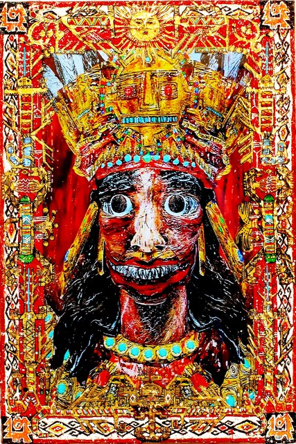 , 'He Who Shakes The Earth (Pachacuti – Inca King),' 2015, Postmasters Gallery