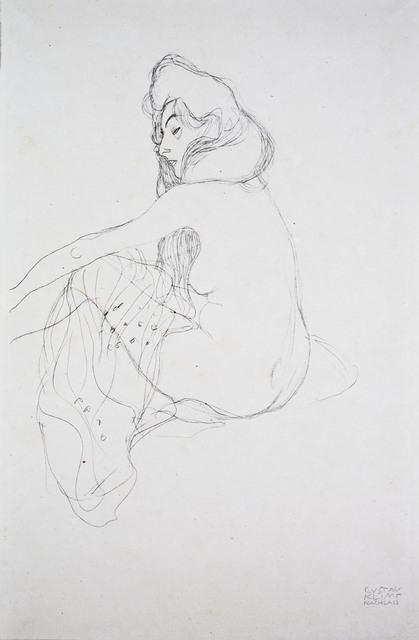 , 'Seated Woman, Half Length [Fünfundzwanzig Handzeichnungen],' 1919, Jason Jacques Gallery