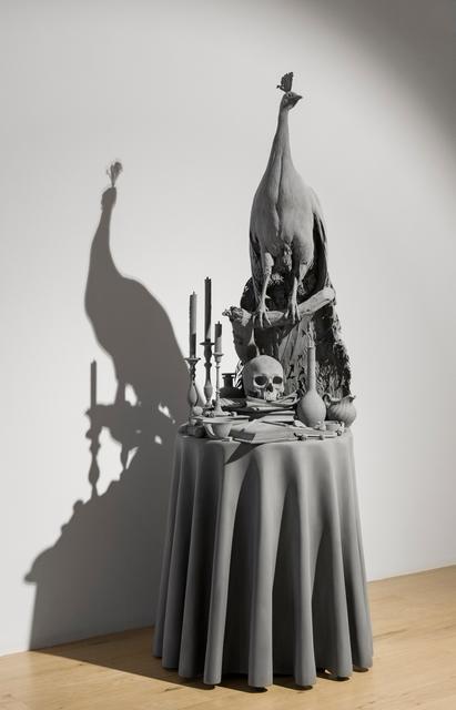 , 'Vanitas Table (peacock),' 2017, Galerie Krinzinger