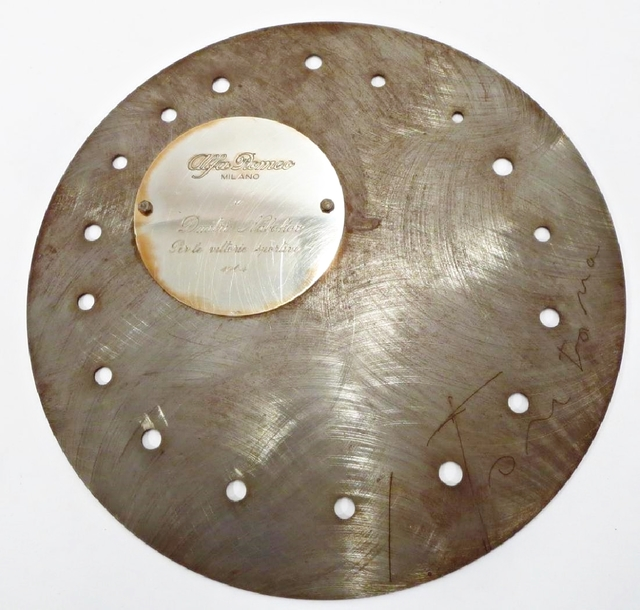 ", '""Discus"" Sculpture Commissioned by Alfa Romeo, Signed, with engraved plaque for race car driver Dmitri Nabokov (son of Vladimir Nabokov),' 1964, Alpha 137 Gallery"
