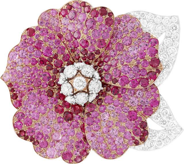 , 'Hibiscus clip. Unique piece, High Jewelry Collection,' 2017, Van Cleef & Arpels