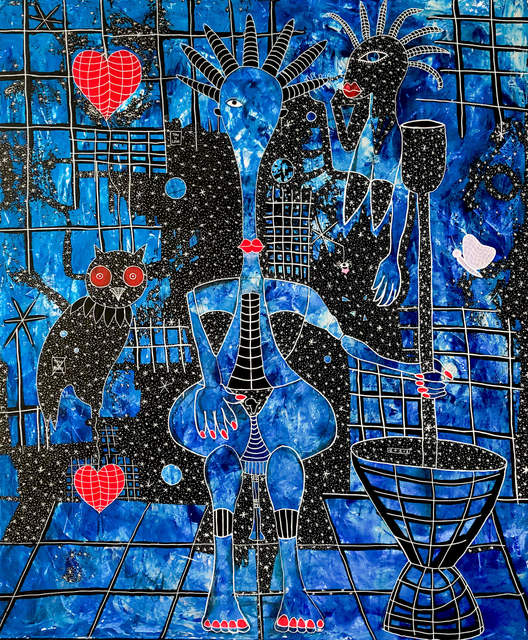 Henri Abraham Univers, 'Biiga Bleue', 2020, Painting, Acrylic on canvas, Out of Africa Gallery