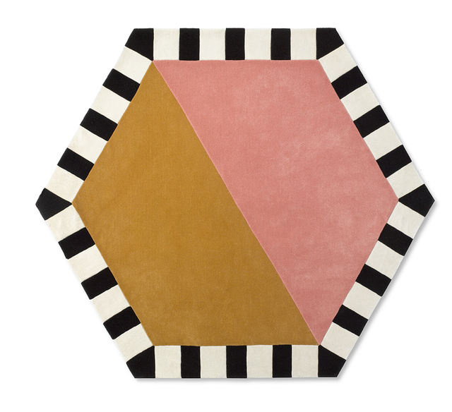 , 'Large Hexagon - Sunrise Carpet,' , kinder MODERN