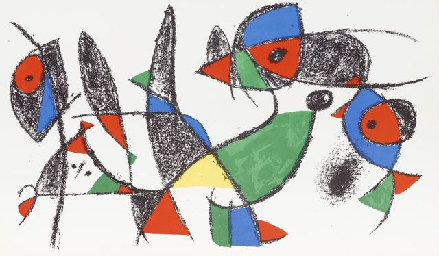 Joan Miró, 'Lithograph II, two from the same series [Mourlot 1039]', 1975, Roseberys