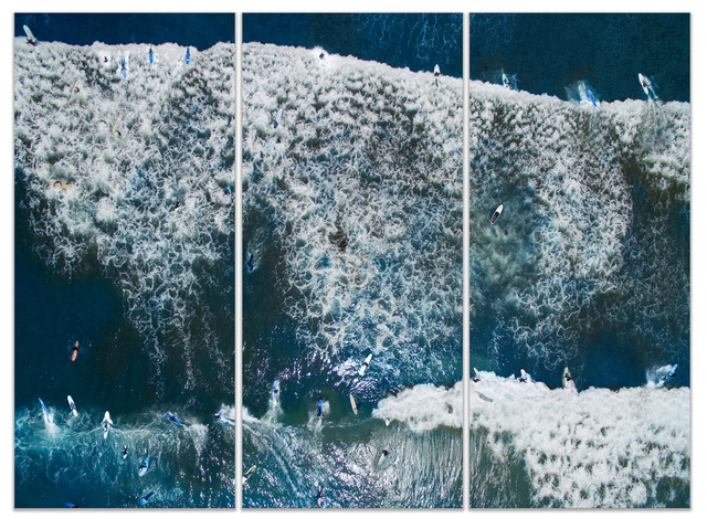 , 'SURFING 1 (triptych),' 2017, Michele Mariaud Gallery