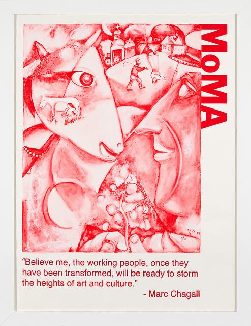 Yevgeniy Fiks, 'Communist Tour of MoMA (Marc Chagall)', 2010, Winkleman Gallery