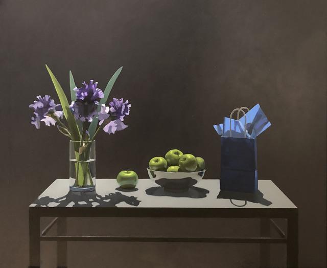Neil Christensen, 'Gift Bag Series: Irises', 2018, Painting, Oil, Kiechel Fine Art