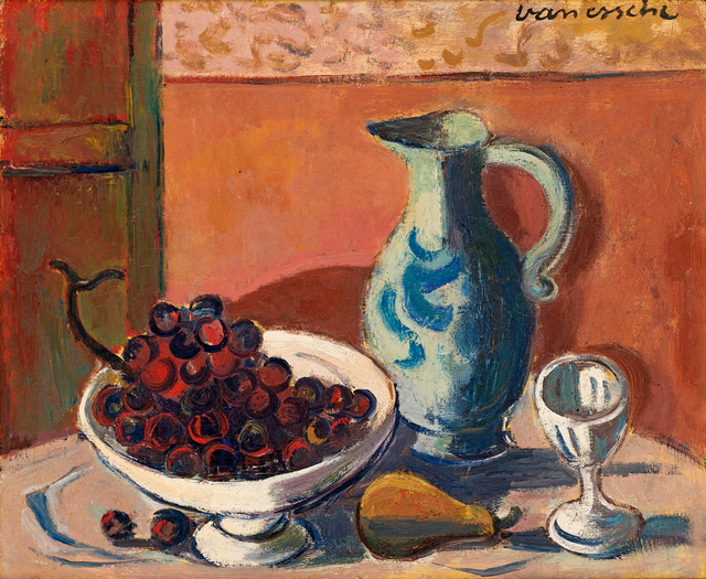 Maurice van Essche, 'Still Life with Grapes and Jug', Strauss & Co
