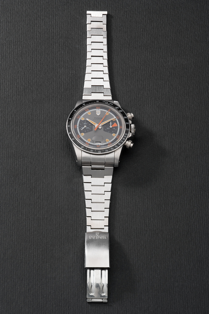 Tudor, 'A fine and very rare stainless steel chronograph wristwatch with date and bracelet', Circa 1971, Phillips