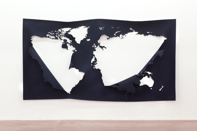 , 'The World Without The World In Blue,' 2014, Dvir Gallery