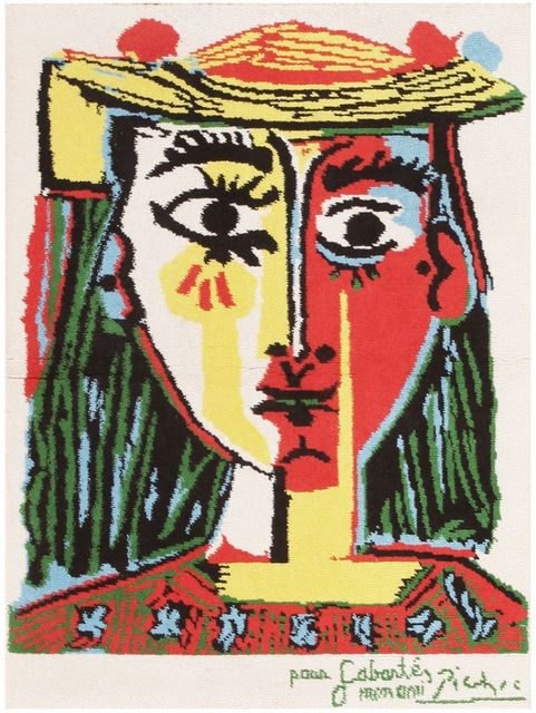 Pablo Picasso, ' Vintage Pablo Picasso Rug', Mid 20th Century, Nazmiyal Collection