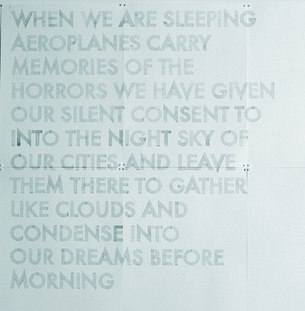 Robert Montgomery, 'Watercolor From Words in the City at Night (When we are Sleeping)', 2009, The Office