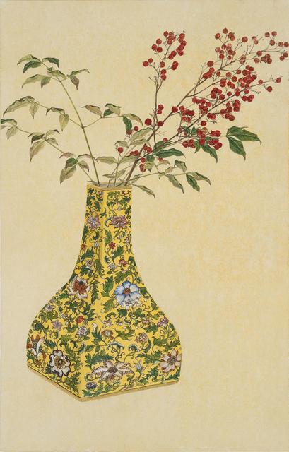 , '노란화병에 담긴 가을 - 남천,' 2015, Leehwaik Gallery