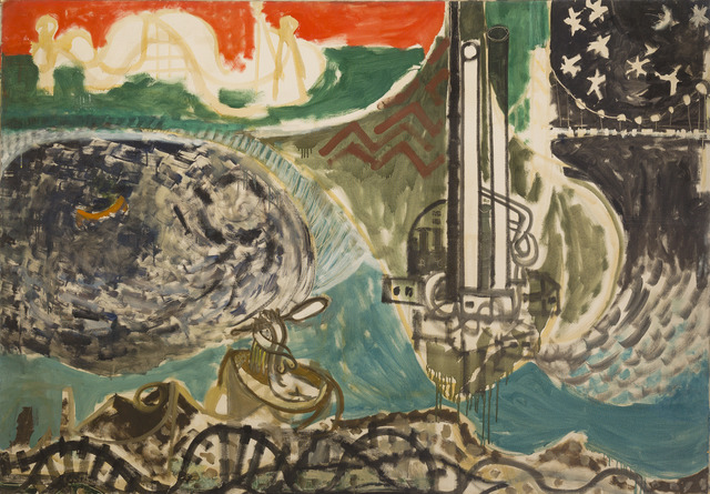 , 'Panorama of the Hudson (Mermaid and the Factory),' 1948, Bookstein Projects