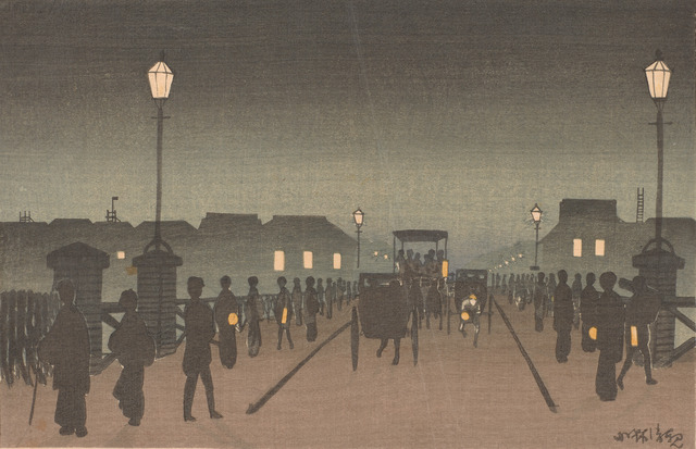 , 'Night at Nihonbashi,' Meiji era-1881, Smithsonian Freer and Sackler Galleries
