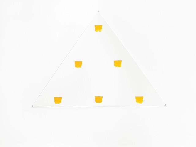 , 'Empreintes de pinceau n°50 répétées à intervalles règuliers de 30 cm,' 2015, Alfonso Artiaco