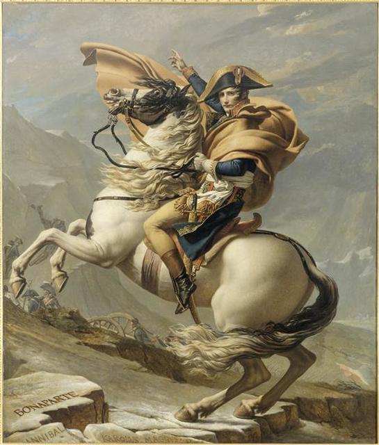 Jacques-Louis David, 'Le Premier consul franchissant les Alpes au col du Grand-Saint-Bernard (Napoleon Crossing the Alps)', 1801, Musée national du château de Malmaison