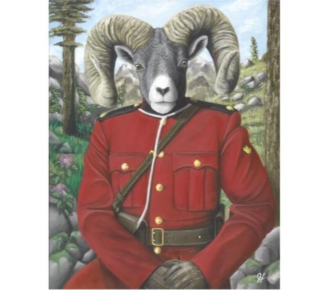 , 'RCMP Bighorn Sheep,' 2017, Lotus Art Gallery