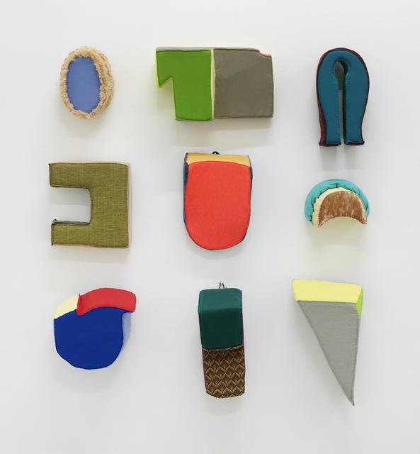 Liz Nurenberg, 'Untitled Wall Sculptures (Grouping)', 2020, Sculpture, Fabric and foam, Mana Contemporary