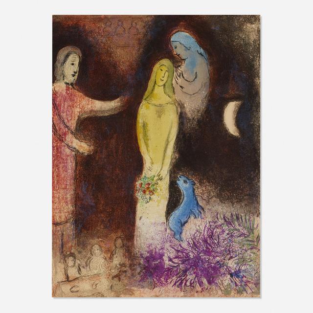 Marc Chagall, 'Chloe vetue et coiffee par Cleariste (from Daphnis et Chloe)', 1961, Rago/Wright