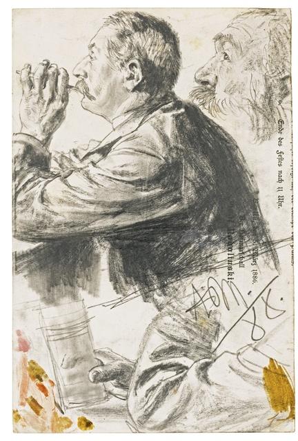, 'Studies of Figures in Profile,' 1888, Mireille Mosler Ltd.