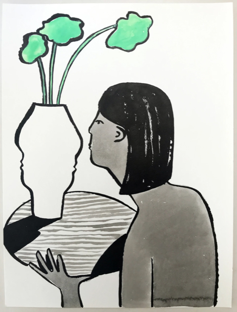 , 'Vase and Woman ,' 2018, Kala Art Institute