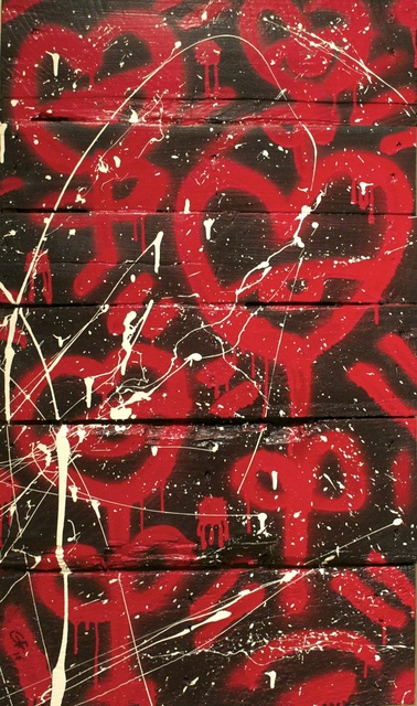 , 'Black on Red ,' 2017, O. Ascanio Gallery