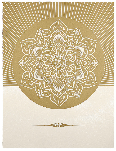 , 'Obey Lotus Diamond (White and Gold),' 2012, Paul Stolper Gallery