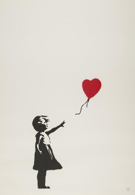 Banksy, 'Girl With Ballooon (Unsigned)', 2004, Prescription Art