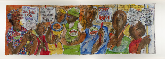 ", 'Chronicles from the Village Series: ""Stand! Protest! Occupy! in 2012"",' 2010-2012, ACA Galleries"