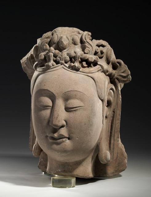 , 'Head of Bodhisattva,' 550-577, China Institute Gallery