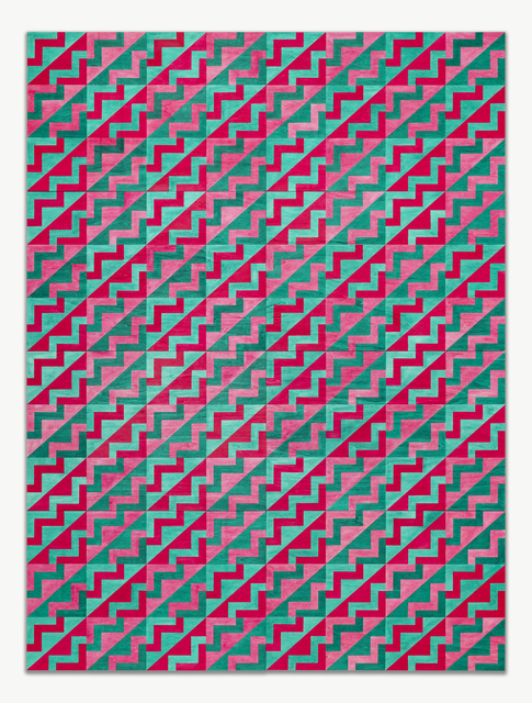 , 'Untitled (pink/green),' 2017, JGM Gallery